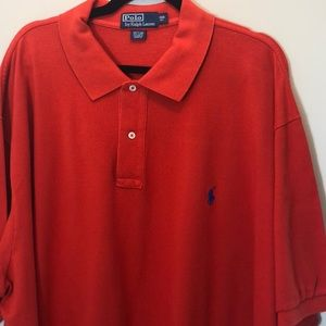 Polo by RL Red Shirt Blue Pony Size 3X Big